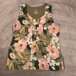 New York & Company floral tank, size M